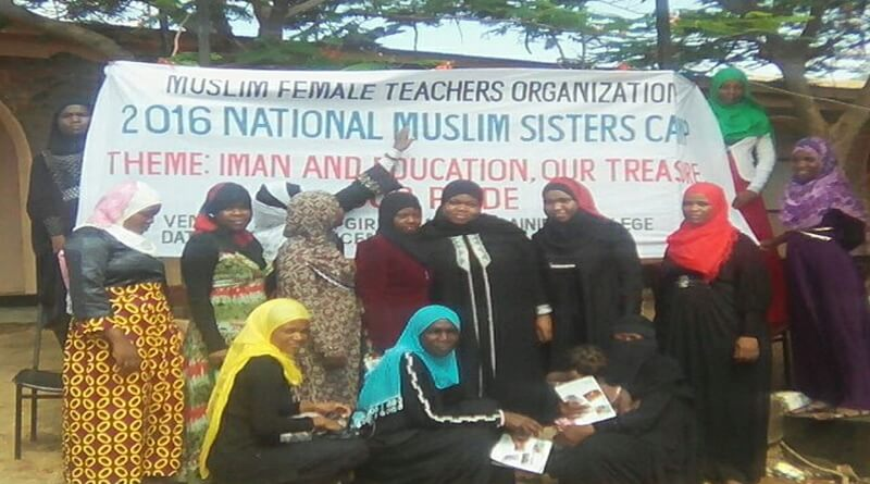 Muslim Female Teachers Organization (MUFTO) Holds 2016 Sister's Camp