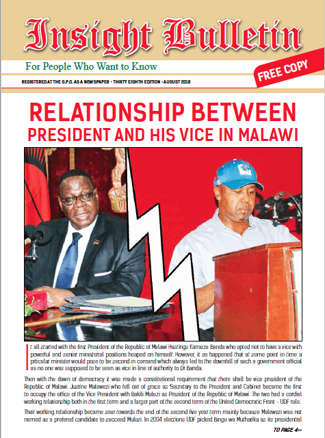 Relationship Between President And His Vice In Malawi